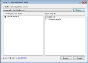 Napojení na repository