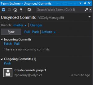Push / Sync do VSO